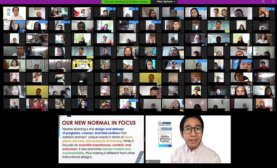 may 9 HTBHET seminar online participants