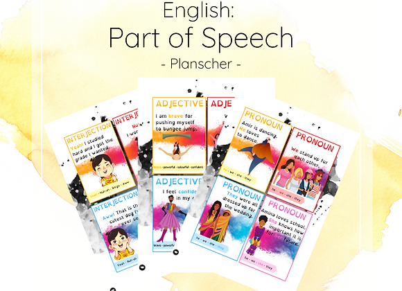 English part of speech - Planscher