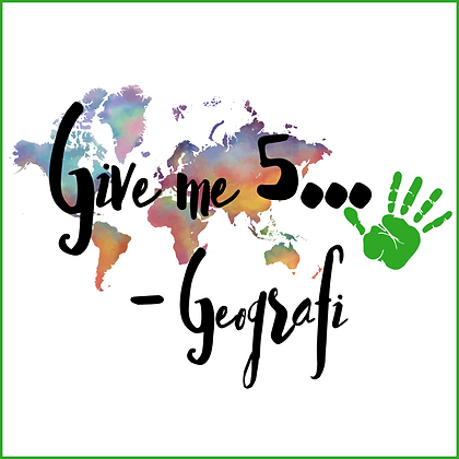 Give me five - Geografi