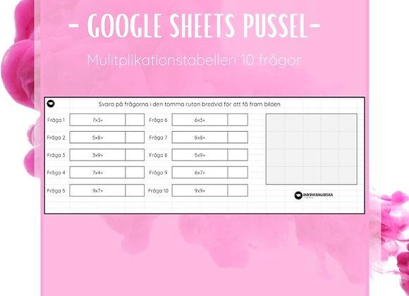Google Sheets Pussel - matte
