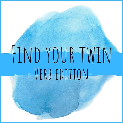 Find your twin - verb edition