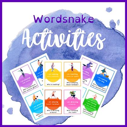 Wordsnake: aktiviteter (verb) 2