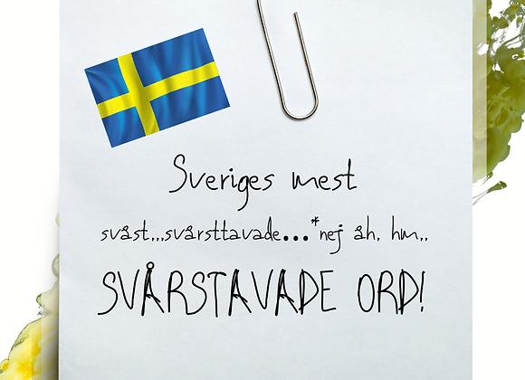 Sveriges mest svårstavade ord - stavningshäfte