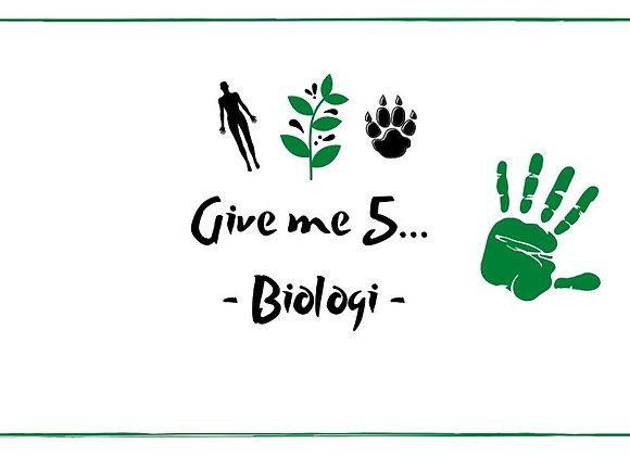 Give me five - Biologi
