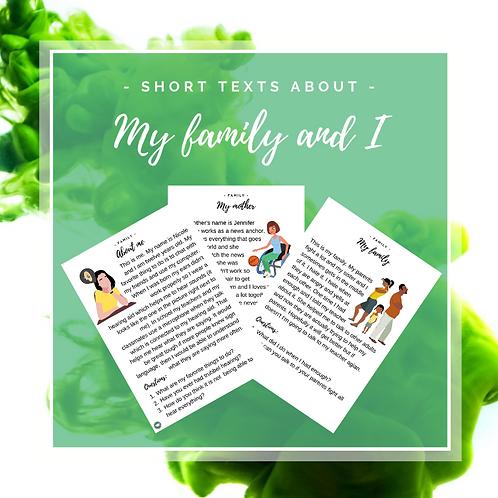 41 Läsförståelsetexter - My family and I