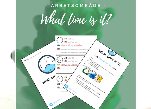 What time is it - arbetsområde