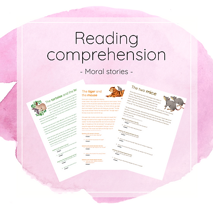 Moral stories - reading comprehension