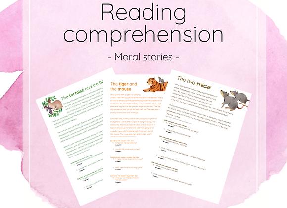 Moral stories - reading comprehension