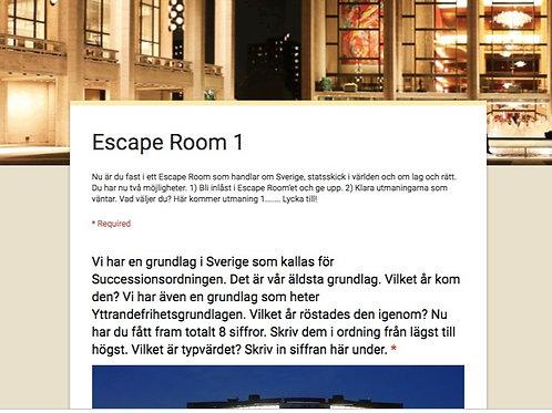 """Escape Room """"Lag och rätt"""""""