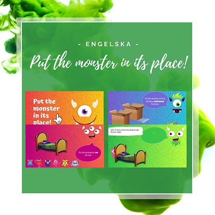Interaktiv uppgift: Put the monster in its place!