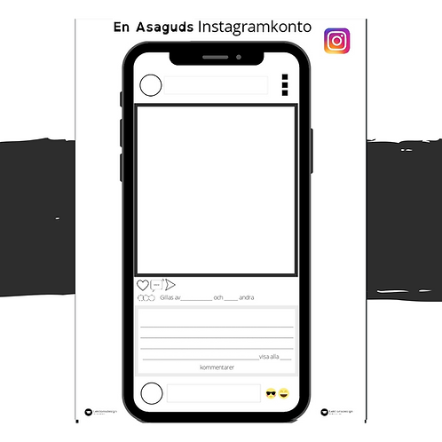 En Asaguds Instagramkonto