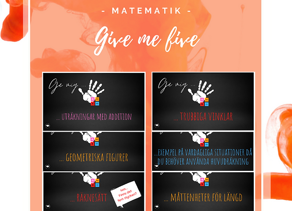 Give me five - Matematik