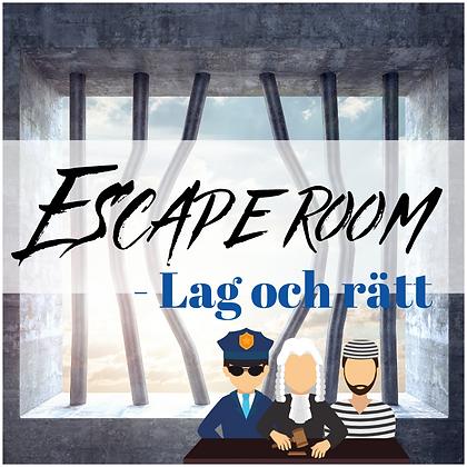 Escape room - Lag och rätt