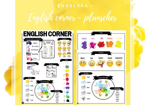 English corner - planscher