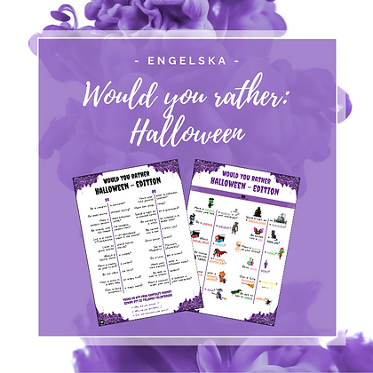 Would you rather: Halloween