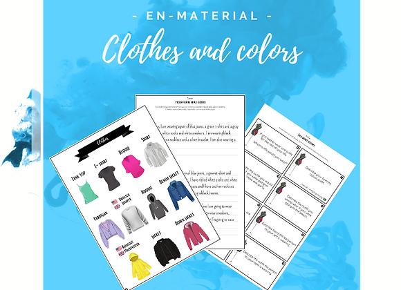 Paket: Clothes and colors -häfte