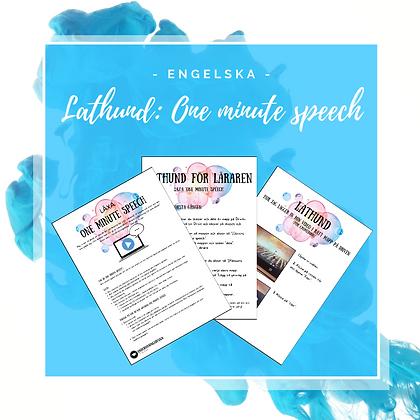 Lathund: One minute speech