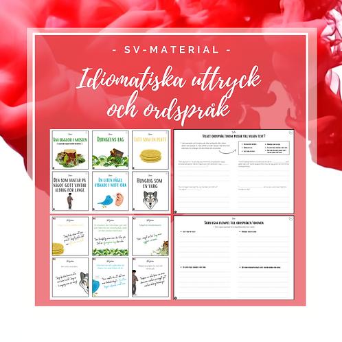 Svenska - idiomatiska uttryck och ordspråk