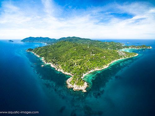 Koh Tao island in Thailand 50x40cm PRINT
