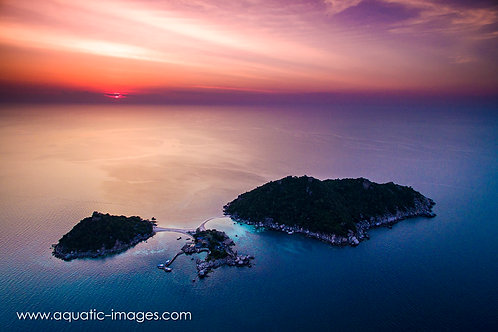 Koh Nang Yuan Sunset 50x40cm PRINT