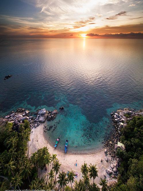 Sunset at Sai Thong Beach on Koh Tao 50x70cm PRINT