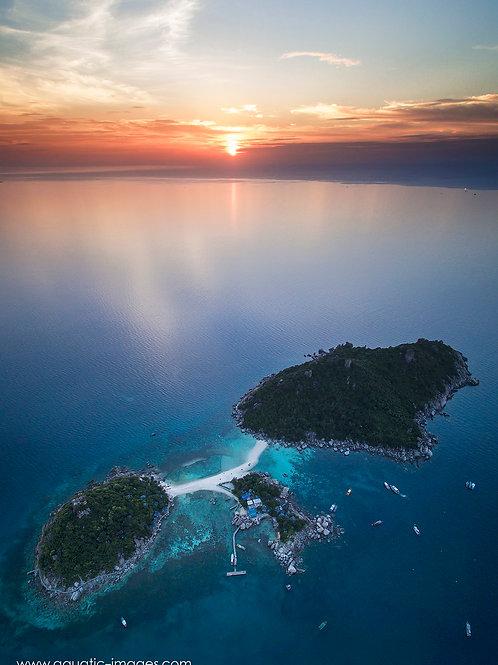 Koh Nang Yuan Sunset 50x70cm PRINT