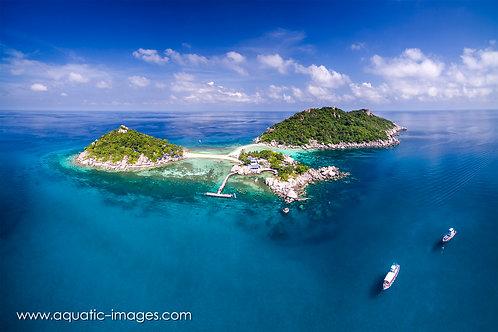 Koh Nang Yuan island 50x40cm PRINT