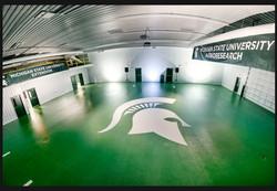 Green Quartz Epoxy Floor Michigan St
