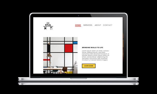 De Stijl  Macbook Web Mockup