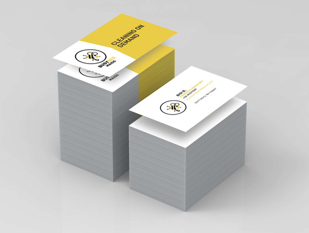 Busy Bee Maids Business Card Mockup