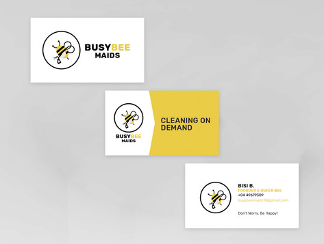 Busy Bee Maids Business Card