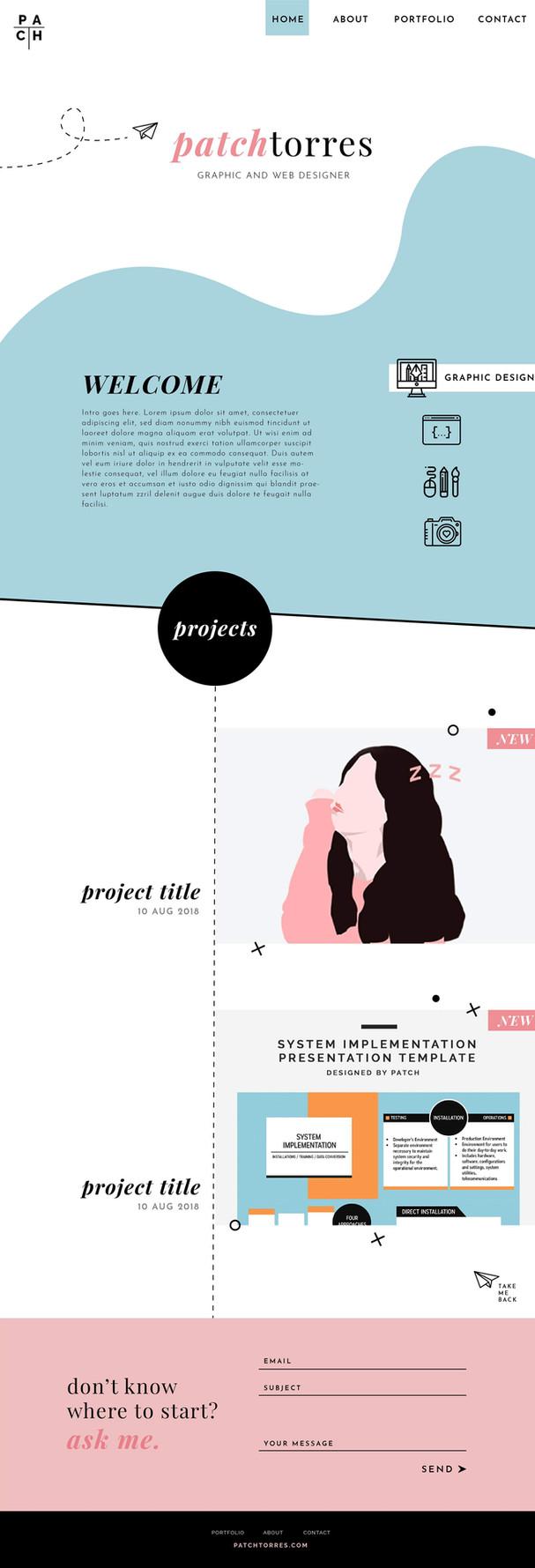 Personal Online Portfolio Web Design