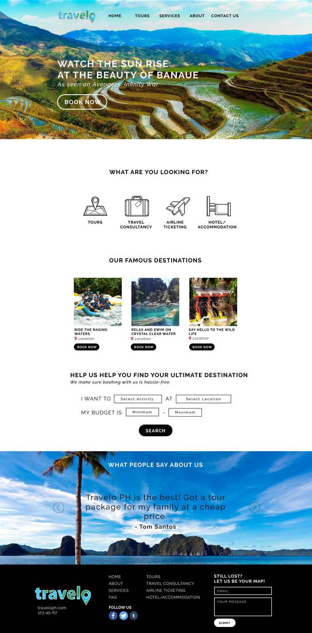 Travelo Website