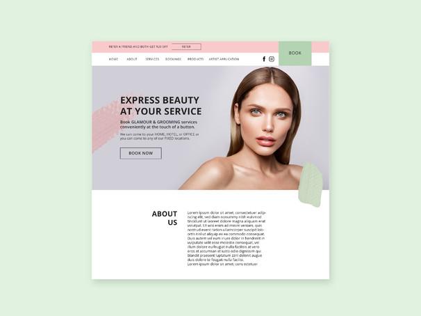 Express Beauty Bar Website