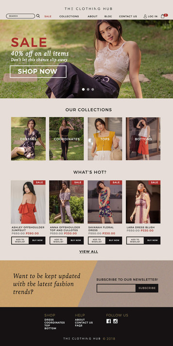 The Clothing Hub Web Design