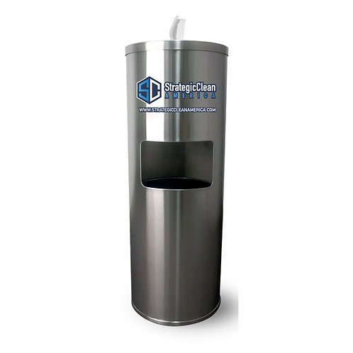 Stainless Steel Wipe Dispenser w/ 1 Roll of Wipes