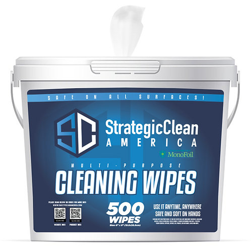 Multi-Purpose Cleaning Wipes - 2 Rolls Refill Buckets