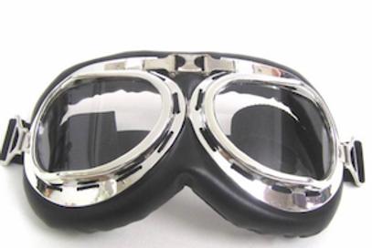 Retro okuliare, čierno-chrómový rám