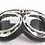 Thumbnail: Retro okuliare, čierno-chrómový rám