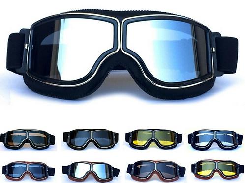 Retro okuliare, čierny rám