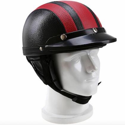 Retro helma, pruhovaná (rôzne farby)