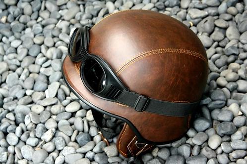 Retro helma, US- hnedá