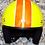Thumbnail: Retro helma, žlto-červená, replika 70-te roky