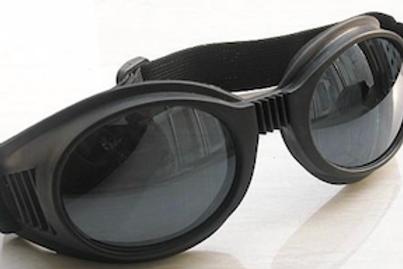 Retro okuliare, čierne plastové