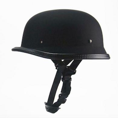 Retro helma NEMECKÁ, matná čierna