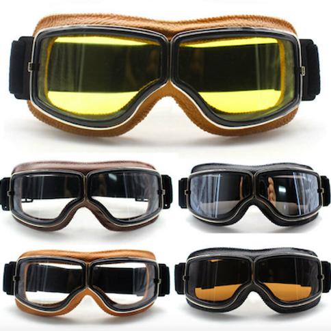 Retro okuliare, hnedý rám