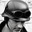Thumbnail: Retro helma NEMECKÁ, čierna koža