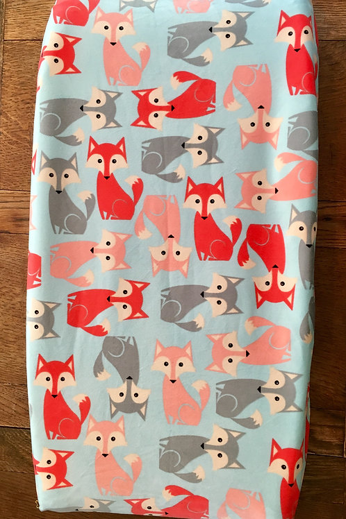 Foxes Changing Pad Cover