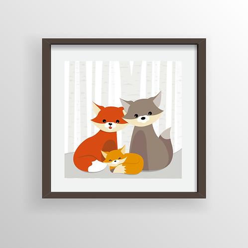 Animal Family Print