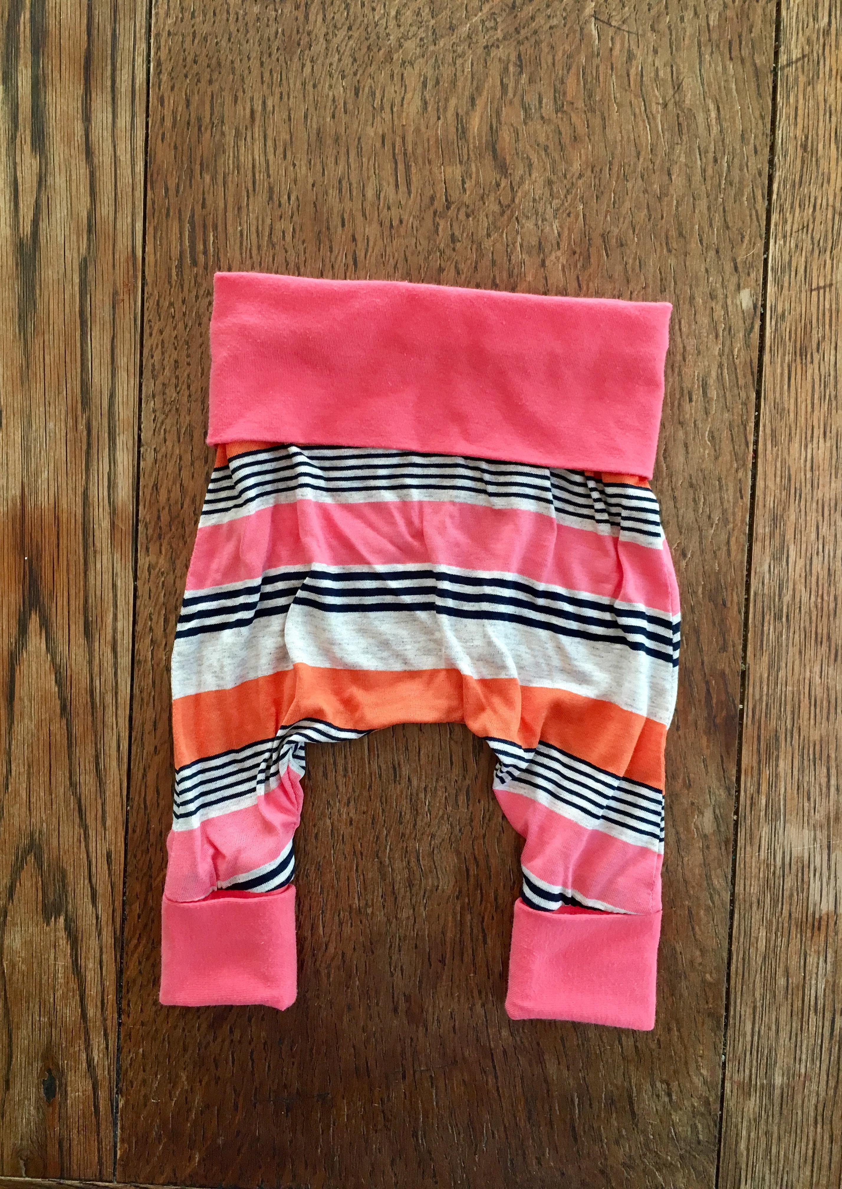 Coral Stripe Pant